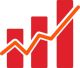 Marketing Macht Icon chart