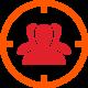 Marketing Macht Icon Zielgruppe
