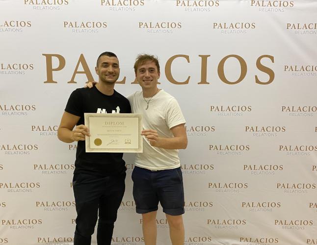 Qemal Emini und Gabriel Palacios